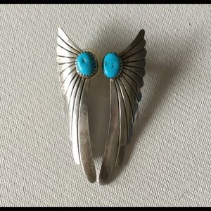 Turquoise Silver Darrings